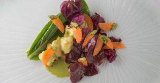 Yamashita vegetable salad with ninjin carrots, komatsuna and kinjiso