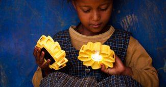 Little Sun solar lamp (2012) by Olafur Eliasson and Frederik Ottesen