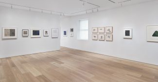 Installation view of Drawing Then: Innovation and Influence in American Drawings of the Sixties at Dominique Lévy New York (January 27 – March 19, 2016)