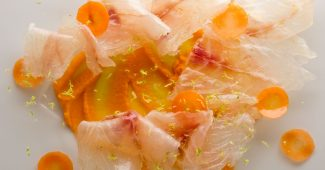 Gilt-head bream royale carpaccio