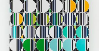 Sarah Morris, July 2013 [Rio] Household gloss on canvas 113.75 in x 113.75 in (289 cm x 289 cm)