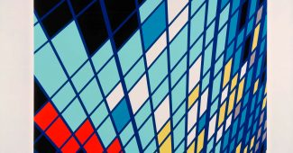 Sarah Morris Midtown - SOLO (9W57) 1999 Household gloss paint on canvas 84.25 in x 84.25 in (214 cm x 214 cm)