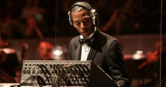 Jeff Mills performing with full orchestra at the Casa da Musica in Oporto (2015)