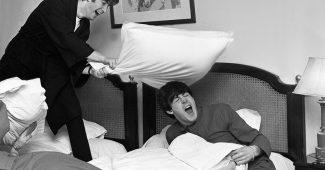 Beatles Pillow Fight, 1964.