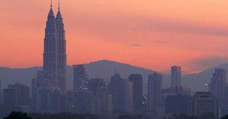 The Petronas Towers, designed by Cesar Pelli in 1998. Kuala Lumpur, Malaysia
