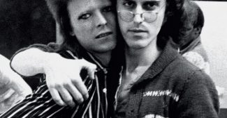 David Bowie and Mick Rock, 1973.