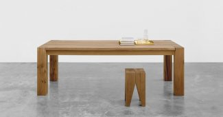 The solid wood Bigfoot table, an icon for e15, celebrated its twentieth year in 2015