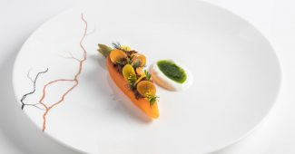 Lamb-braised carrot with sheep's milk yogurt