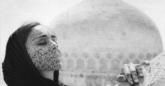 A still from Shirin Neshat's film Soliloquy (1999)