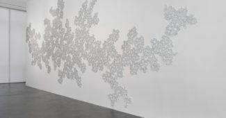 Untitled (Mylar Tape), 2016. Installation view, Tara Donovan: Fieldwork, Museum of Contemporary Art, Denver.