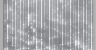 Large Cloud Drawing 3, (2018). LEDs, custom software, electrical hardware and metal