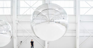 Prototype for a Nonfunctional Satellite, Installation test at Hangar (2013)