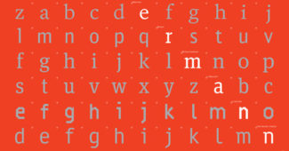 The Face of Type (2011) — poster designed for Spiekermann's Bauhaus Archive exhibition in Berlin.