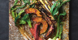 Winter: assorted roasted vegetables. Image from monk: Light and Shadow on the Philosopher's Path by Yoshihiro Imai, published by Phaidon €39.95 (phaidon.com)