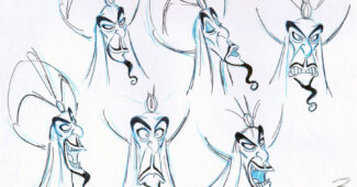 Jafar character sketches by Andreas Deja